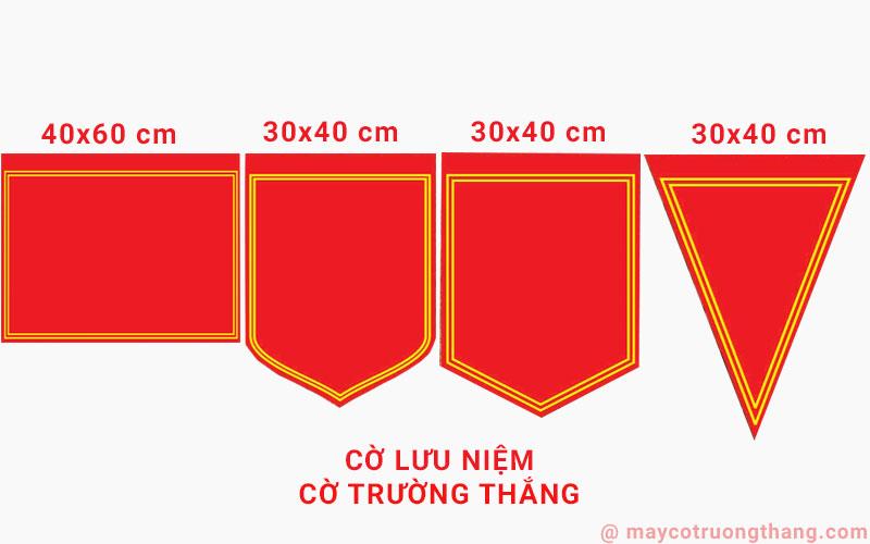 Kích thước cờ lưu niệm