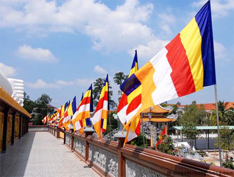 May Cờ Phật giáo tại Cờ Trường Thắng