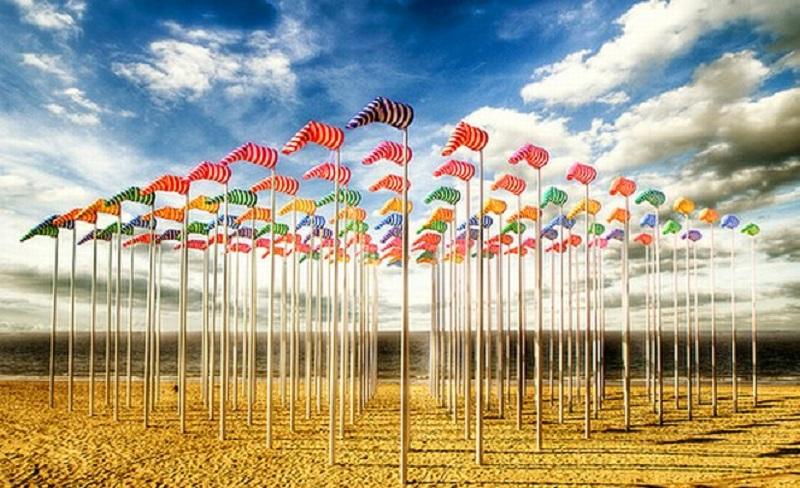 Cờ gió được may tại cờ trường thắng. In cờ gió giá tốt